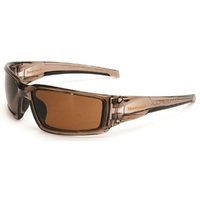 Honeywell Hypershock Safety Glasses. Brown Espresso, Polarised (1024856AN)