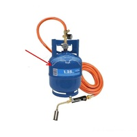 1.25KG Gas Bottle to suit Soft/Hard Flame Burners