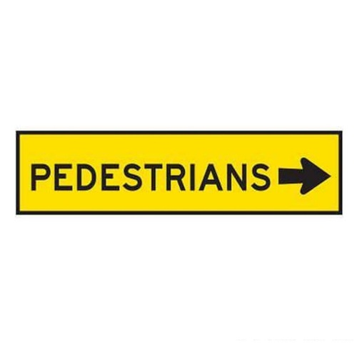 Pedestrian Right Sign - 1200x300 - Corflute